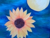 Sunflower and Moon by Josie Cappello