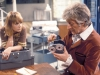 Katy Manning as Jo Grant and Jon Pertwee as Doctor Who