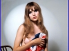 Madeline Smith With A Union Jack