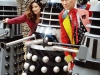 Peri, the 6th Doctor and The Daleks aka Nicola Bryant and Colin Baker
