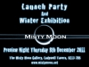 Misty Moon Gallery Launch Party Flyer - December 2011