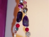 Chunky Purple Agate and Gemstone Necklace